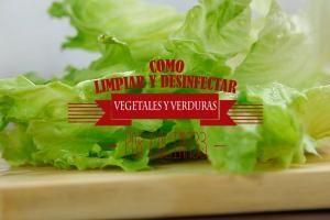 Como limpiar y desinfectar vegetales y verduras