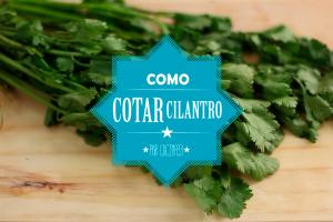 Como cortar cilantro
