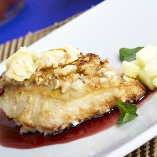 Pechuga de pollo encostrada con nueces receta por catalina - Platos con pechuga de pollo ...