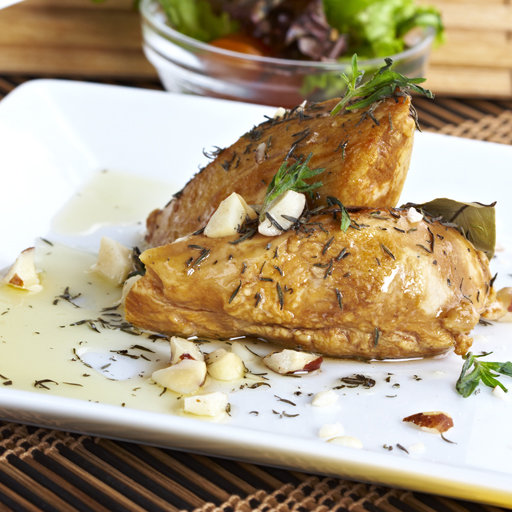 Pechuga de pollo asada en receta